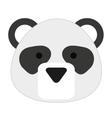 cute panda isolated icon design vector image