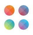 Empty button set flat design vector image
