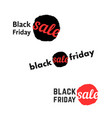 simple black friday sale logo vector image