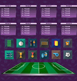 Soccer Scoreboard Groups and Teams and Icons vector image