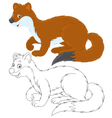 Stoat vector image vector image