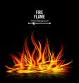 bonfire on black background realistic vector image