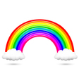Colorful rainbow and clouds vector image