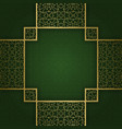 ornamental background with square crosswise frame vector image