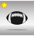 football black icon button logo symbol vector image