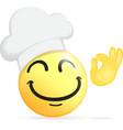 Chef emoticon vector image