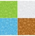 floral seamless patterns - set vector image