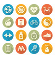 Health and Fitness icons vector image