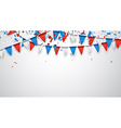 Background with flags vector image