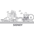 sidney architecture line skyline vector image