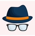 hat and hipster items image vector image