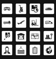 logistic icons set squares vector image