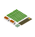 rural isometric natural ecological farm with the vector image vector image