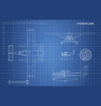 engineering blueprint of plane hydroplane vector image