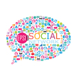 collage of social network vector image