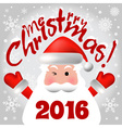2016 Merry Christmas card or background with Santa vector image