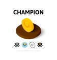 Champion icon in different style vector image