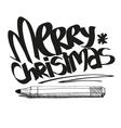 Artistic merry christmas design vector image