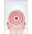 target head vector image vector image