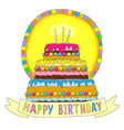 Birhday cake happy vector image