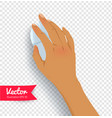 female hand with computer mouse vector image