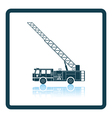 Fire service truck icon vector image