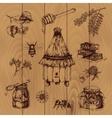 Honey Hand Drawn vector image