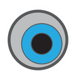 Isolated halloween eyeball vector image