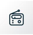 radio outline symbol premium quality isolated vector image