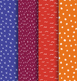 Set of Repeating doodle background hand drawn vector image