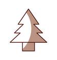 Shadow cute tree cartoon vector image