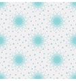 Snow Flowers Seamless Pattern vector image