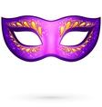 violet venitian carnival mask vector image