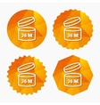 After opening use 36 months sign icon vector image