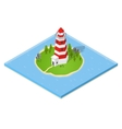 Nautical Lighthouse Isometric View vector image