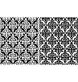 Floral damask seamless patterns vector image vector image