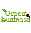 Green Business vector image