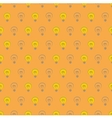Tile pattern with light bulbs on orange background vector image