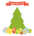 tree and gifts vector image