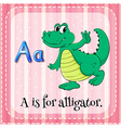 A letter A vector image vector image
