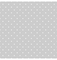 Tile pattern white polka dots on grey background vector image vector image
