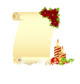 manuscript christmas candle vector image vector image