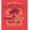 Baja California fiesta club vector image