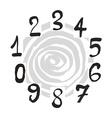 Numerals set vector image