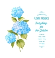 The Hortensia flower vector image