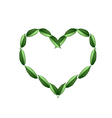 Beautiful Green Leaves in A Beautiful Heart vector image
