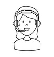 female call center agent vector image