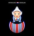 Matryoshka Netherlands vector image