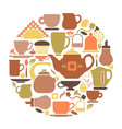 symbols of tea vector image