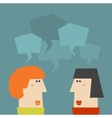 Two talking women vector image